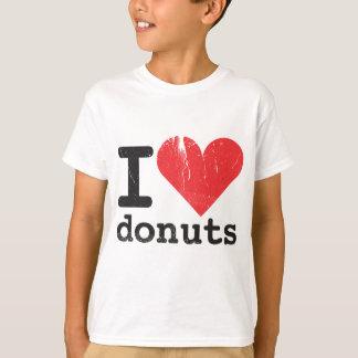 Camiseta Eu amo o t-shirt dos miúdos das rosquinhas