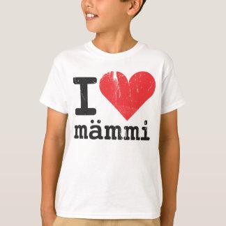 Camiseta Eu amo o t-shirt dos miúdos de Mämmi