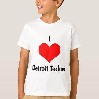 Camiseta Eu amo o t-shirt dos miúdos do techno de detroit