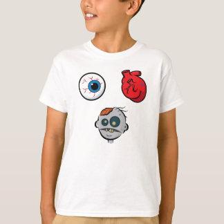 Camiseta Eu amo o t-shirt dos miúdos dos zombis