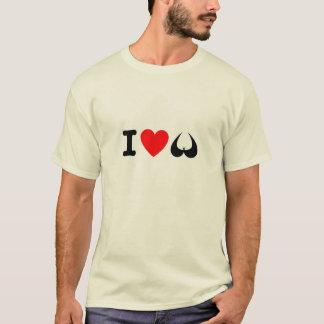 Camiseta Eu amo o t-shirt dos peitos
