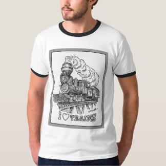 Camiseta Eu amo o t-shirt dos trens