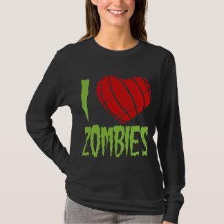 Camiseta Eu amo o t-shirt dos zombis
