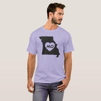 Camiseta Eu amo o t-shirt escuro básico de Missouri
