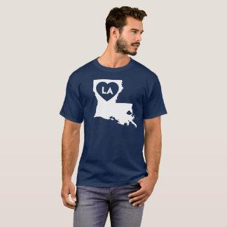 Camiseta Eu amo o t-shirt escuro básico dos homens do