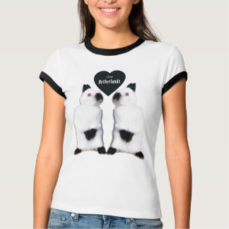 Camiseta Eu amo o t-shirt holandês