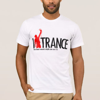 Camiseta Eu amo o t-shirt Mucic do Trance