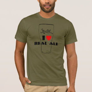 Camiseta Eu amo o t-shirt real da cerveja inglesa
