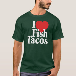 Camiseta Eu amo o Tacos de peixes