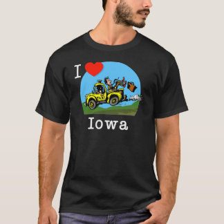 Camiseta Eu amo o táxi do país de Iowa