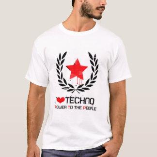 Camiseta Eu amo o techno