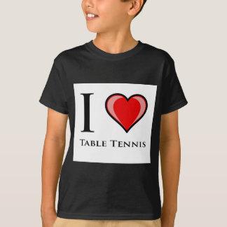 Camiseta Eu amo o ténis de mesa
