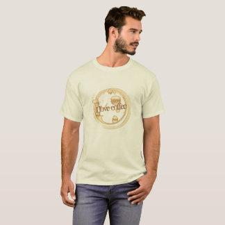 Camiseta Eu amo o texto do Grunge do café com manchas do