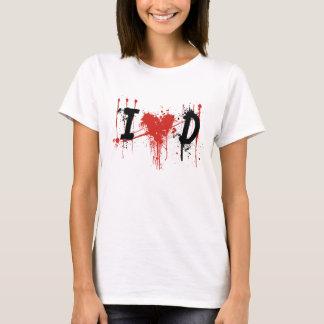 Camiseta eu amo o texto preto de Dexter