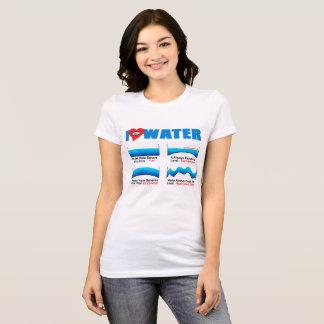 Camiseta EU AMO o Tshirt | AllSeeingHeart.org das mulheres