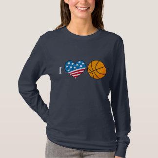 Camiseta Eu amo o tshirt da obscuridade do basquetebol