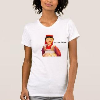 Camiseta Eu amo o Tshirt de Coreia