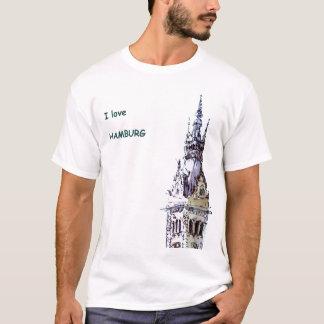 Camiseta Eu amo o Tshirt de Hamburgo