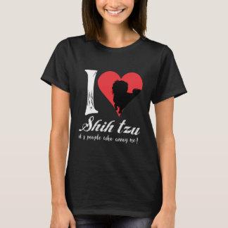 Camiseta eu amo o tzu de shih suas pessoas que me irritam