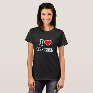 Camiseta Eu amo objectivas triplas