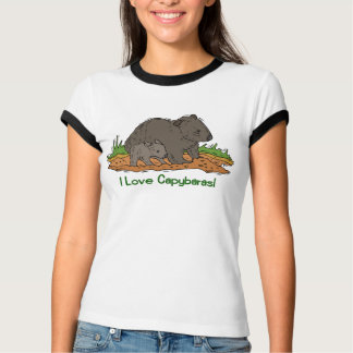 Camiseta Eu amo os Capybaras 2
