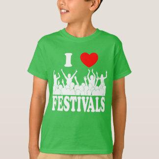 Camiseta Eu amo os festivais (brancos)