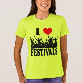 Camiseta Eu amo os festivais (o preto)
