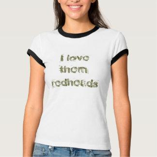 Camiseta Eu amo-os redheads