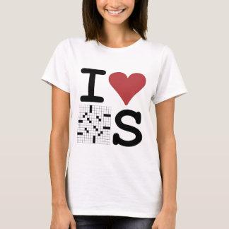 Camiseta Eu amo palavras cruzadas roupa e acessórios