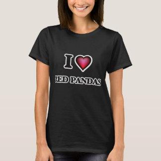 Camiseta Eu amo pandas vermelhas