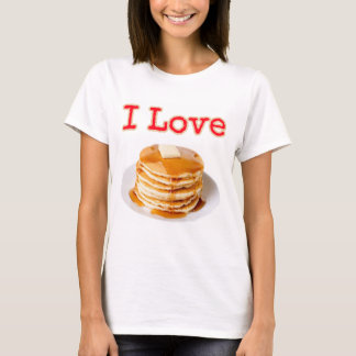 Camiseta Eu amo panquecas!