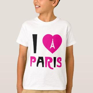 Camiseta Eu amo Paris