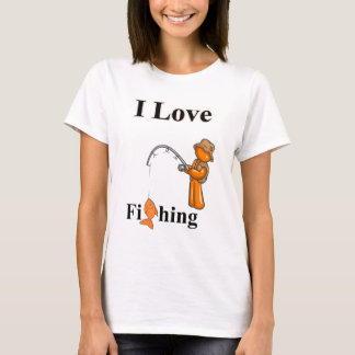 Camiseta Eu amo pescar