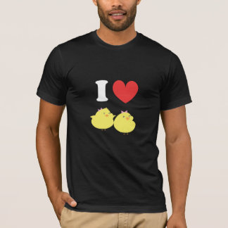 Camiseta Eu amo pintinhos gordos