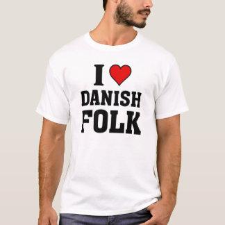 Camiseta Eu amo povos dinamarqueses
