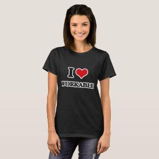 Camiseta Eu amo praticável