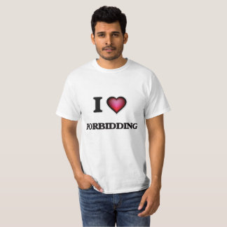 Camiseta Eu amo proibir
