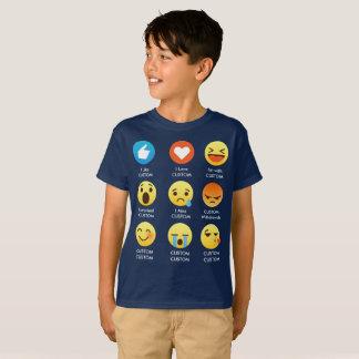 Camiseta Eu amo provérbios CUSTOMIZÁVEIS dos Emoticons