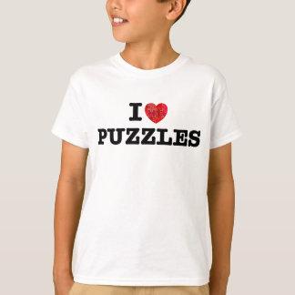 Camiseta Eu amo quebra-cabeça
