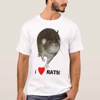 Camiseta Eu amo ratos!