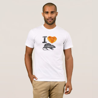 Camiseta Eu amo ratos das casernas
