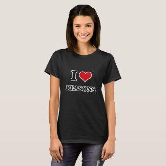 Camiseta Eu amo razões