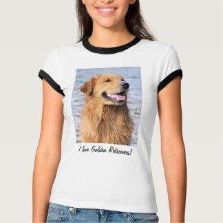Camiseta Eu amo Retrievers dourados! T-shirt