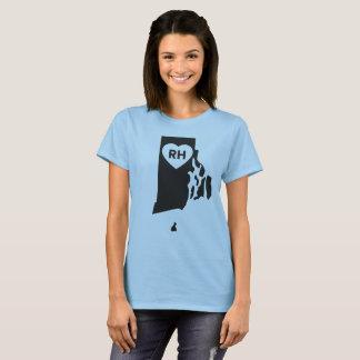 Camiseta Eu amo Rhode - o t-shirt básico das mulheres do