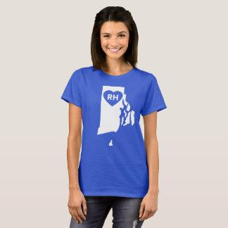 Camiseta Eu amo Rhode - o t-shirt das mulheres do estado de