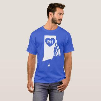 Camiseta Eu amo Rhode - o t-shirt escuro básico dos homens