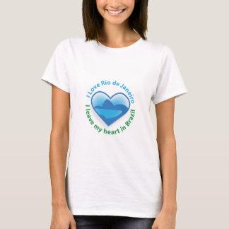Camiseta Eu amo Rio de Janeiro - eu deixo meu coração em