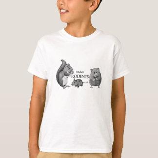 Camiseta Eu amo roedores: Esquilo, rato, hamster: Lápis