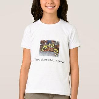 Camiseta Eu amo sapos da barriga do fogo!  T da campainha