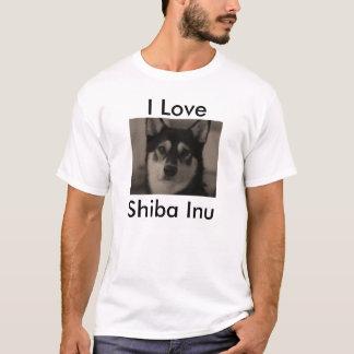 Camiseta Eu amo Shiba Inu